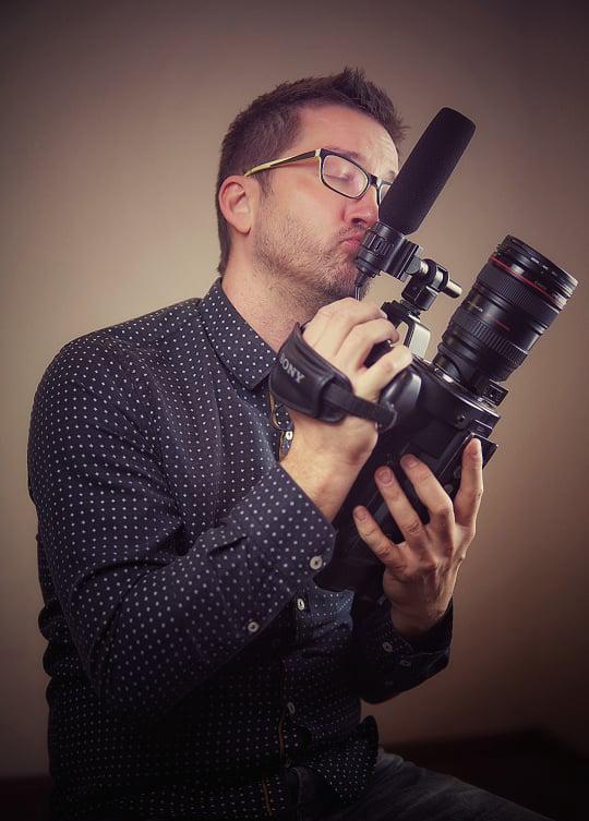 Tadej Bokan s kamero